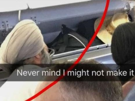 Outrage after racist social media pictures shared on Snapchat. Picture: Twitter/SikhProf