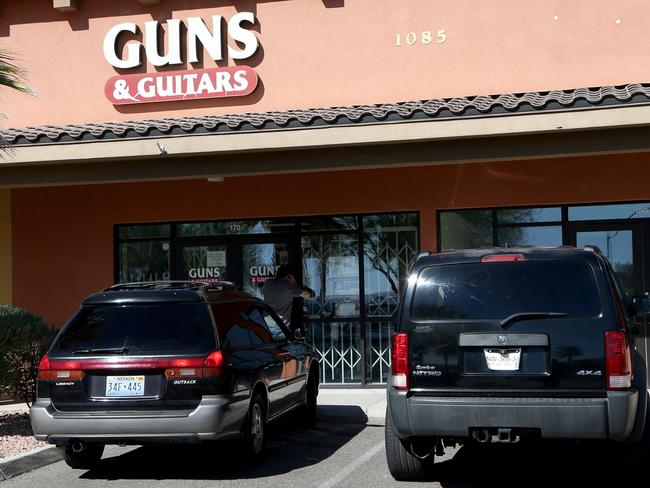 Guns & Guitars manager said there was nothing to suggest Paddock, who purchased firearms from the store, was unstable. Picture: Gabe Ginsberg/Getty Images/AFP