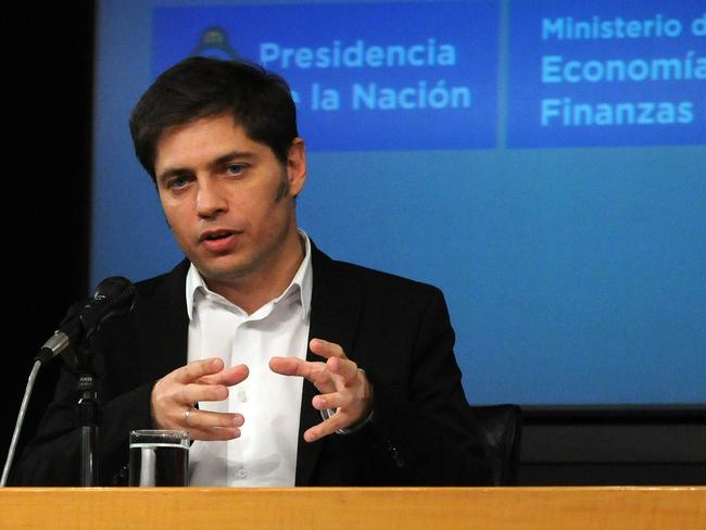 Argentina's Economy Minister Axel Kicillof speaking about the country's debt.
