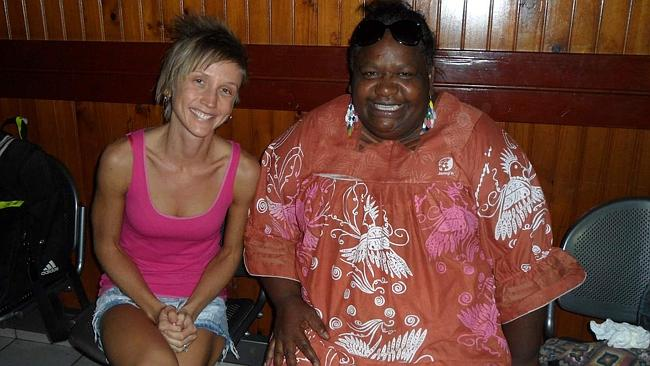 Making friends with a local kanak woman in New Caledonia. Picture: Tatyana Leonov