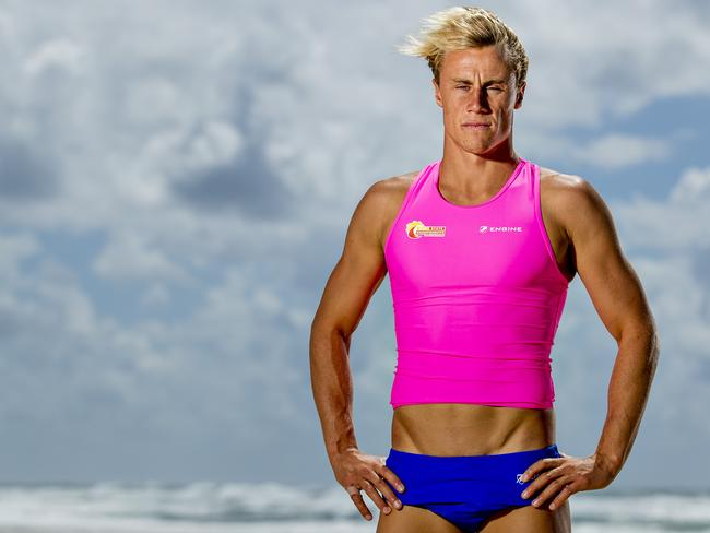 Matt Bevilacqua, who was born with a mild form of EB, won the Nutri-Grain Ironman series in February this year. Picture: Jerad Williams