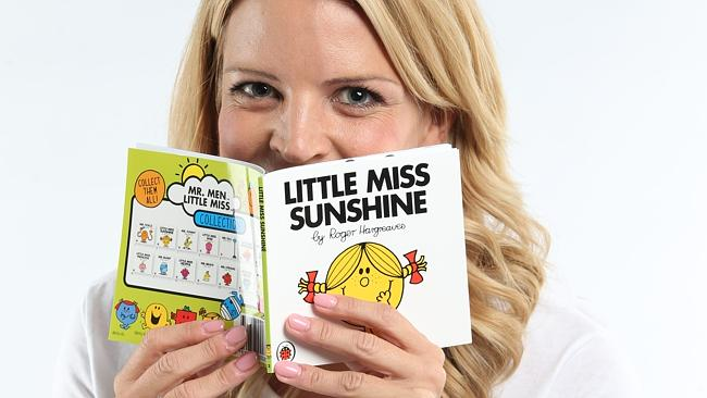 Channel Ten's own Little Miss Sunshine Caty Price with the classic children's book. Pictu