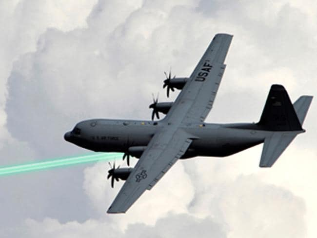 An Air Force test in January is a prelude to putting laser weapons on gunships, like this depiction.