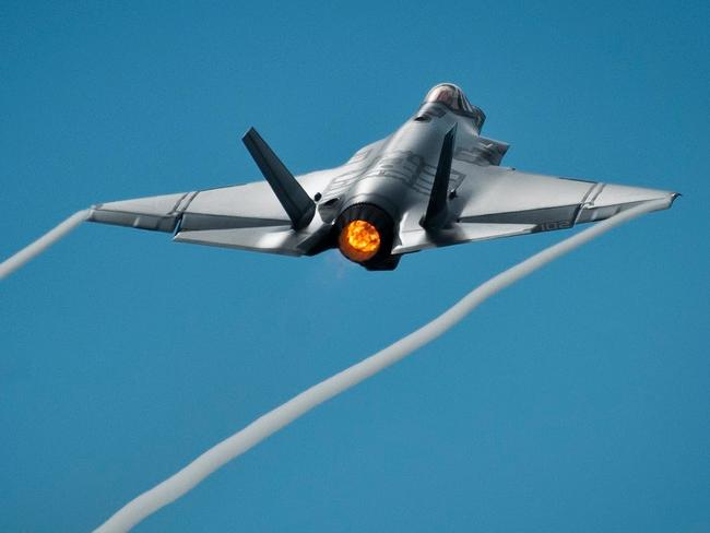 Long hard climb ... Does a low thrust-to-weight ratio put the F-35 behind in the arms race? Source: US DoD