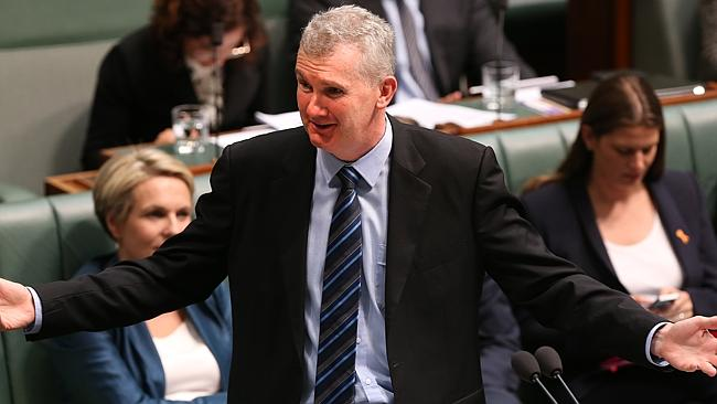 On the attack ... Labor MP Tony Burke attempted to move a no-confidence motion against the Speaker.