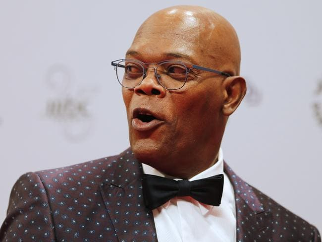 Samuel L Jackson was shocked to discover he was in a feud with Donald Trump. Picture: AFP/Karim Sahib