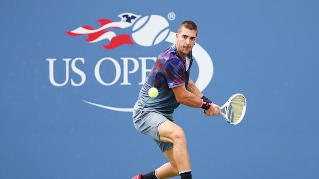 Thanasi Kokkinakis is up against Janko Tipsarevic. Picture: AFP