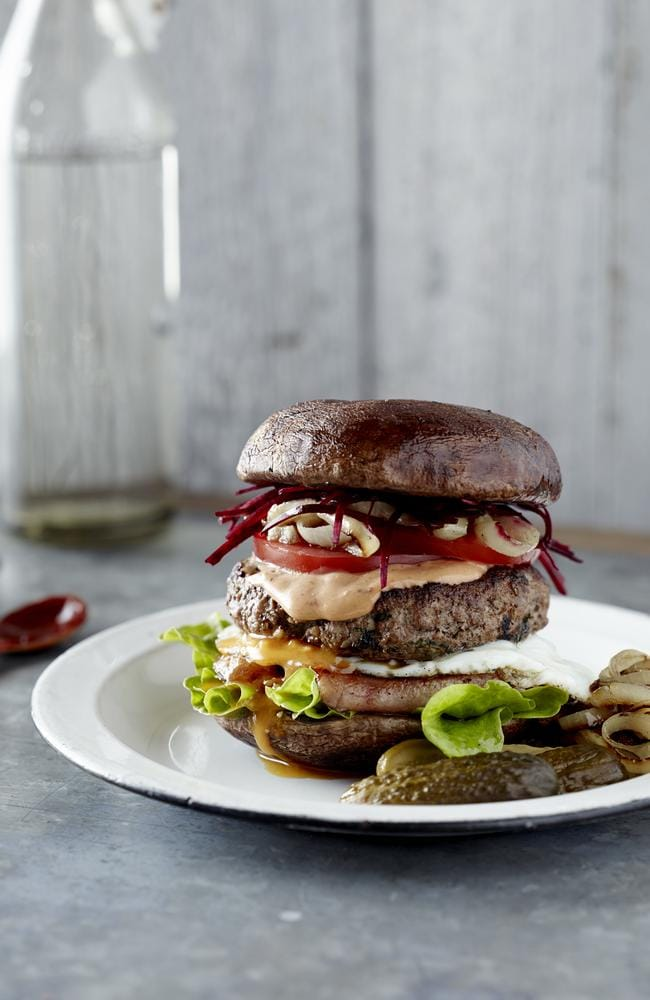 Pete Evans' hearty paleo burger.