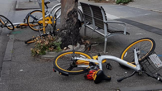 Daniel Lewkovitz says there are more than 5000 share bikes in Sydney alone. Picture: Supplied/ Snap Send Solve