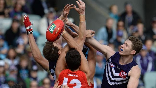 "Fremantle's Zac Dawson is one of five ""muggles"" that must be dropped, according to David King. Picture: Daniel Wilkins"