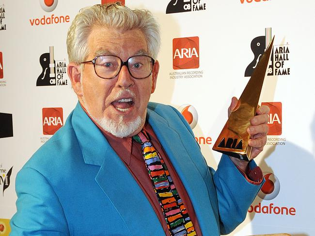 Veteran entertainer Rolf Harris was inducted into the ARIA Hall of Fame in 2008. Picture: AAP