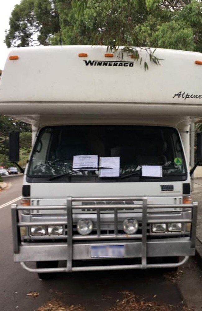 The Winnebago which sparked the angry letter. Picture: Dannielle Miller