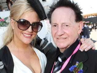 Brynne Gordan and Doctor Geoffrey Edelsten at 2009 AAMI Victoria Derby Day at Flemington Racecourse in Melbourne.
