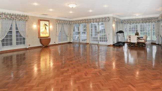 Fancy a dance? This unique property even has a ballroom with cushioned floors.