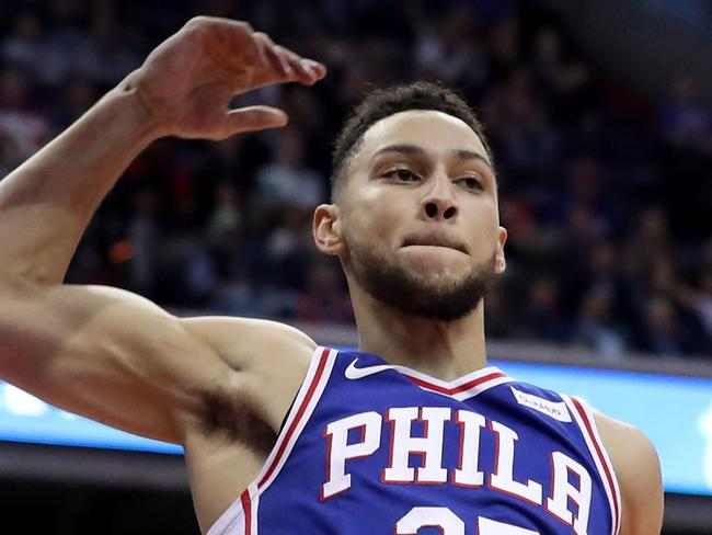 WASHINGTON, DC - OCTOBER 18: Ben Simmons #25 of the Philadelphia 76ers dunks the ball against the Washington Wizards at Capital One Arena on October 18, 2017 in Washington, DC. NOTE TO USER: User expressly acknowledges and agrees that, by downloading and or using this photograph, User is consenting to the terms and conditions of the Getty Images License Agreement.   Rob Carr/Getty Images/AFP == FOR NEWSPAPERS, INTERNET, TELCOS & TELEVISION USE ONLY ==