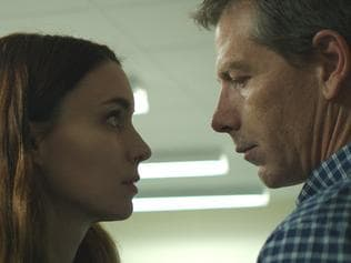 Rooney Mara and Ben Mendelsohn in a scene from film Una