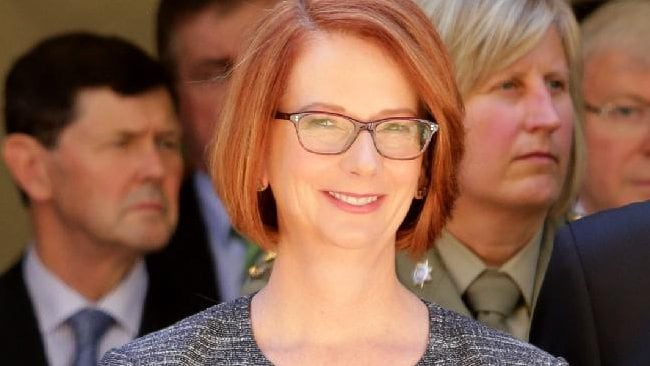 Julia Gillard's new look stirred interest in the media.