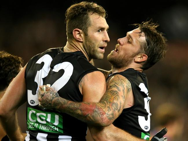 Exposed ... Nude selfies of Travis Cloke and Dane Swan were published in Woman's Day.