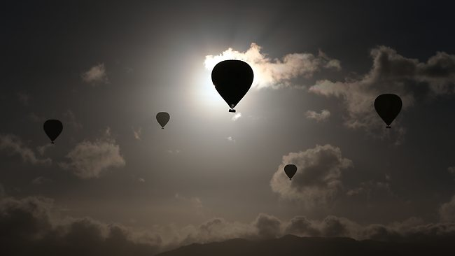 Eclipse FNQ: those watching from hot air balloons near Mareeba had an unobstructed view. Picture: Marc McCormack
