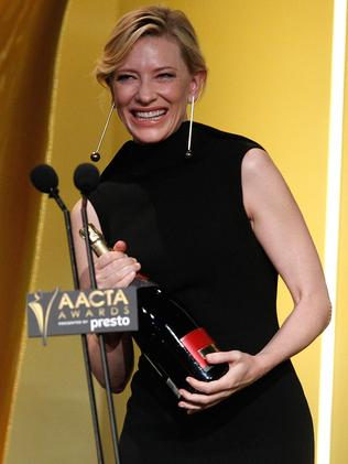 Ecstatic ... Cate Blanchett wins the AACTA Longford Lyell Award. Picture: Brendon Thorne / Getty Images for AFI