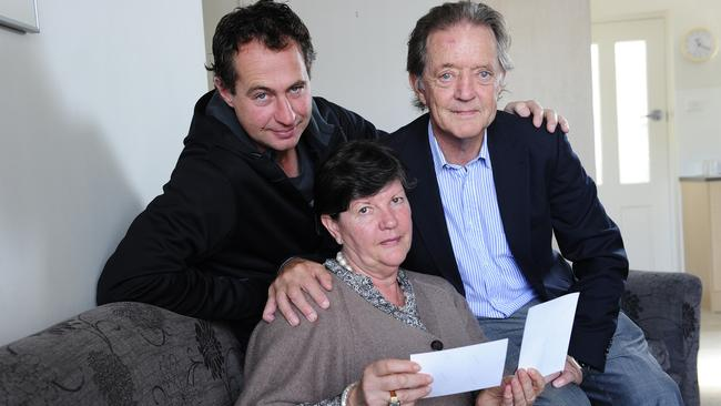 Max Bromson's family - sister Kerry, son Matt and brother Garry Bromson. Picture: Mark Brake