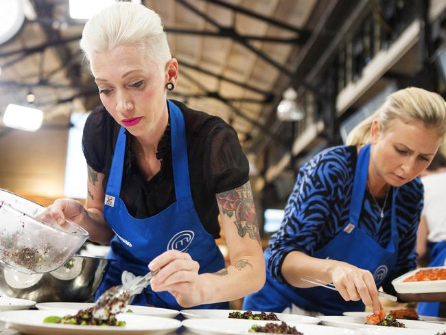 Sydney-based single mum Renae Smith in the Masterchef kitchen.