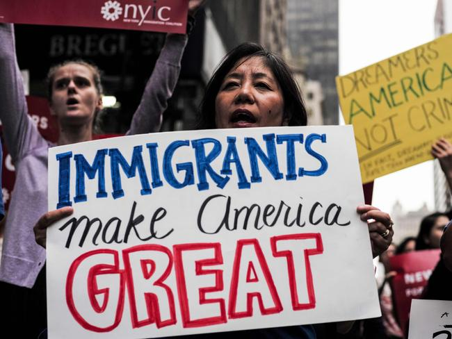 Protesters rally in support of the Deferred Action for Childhood Arrivals (DACA) scheme. Picture: AFP/Jewel Samad