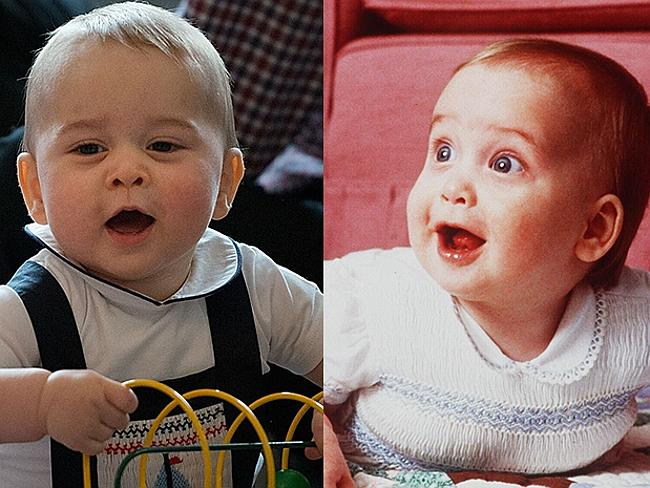 Seeing double ... Prince George enjoys his toys almost as much as his dad, Prince William