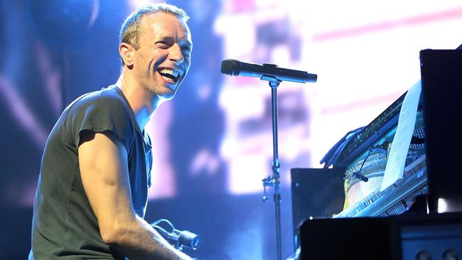 Chris Martin's childhood stutter occasionally still surfaces. Picture: Getty Images