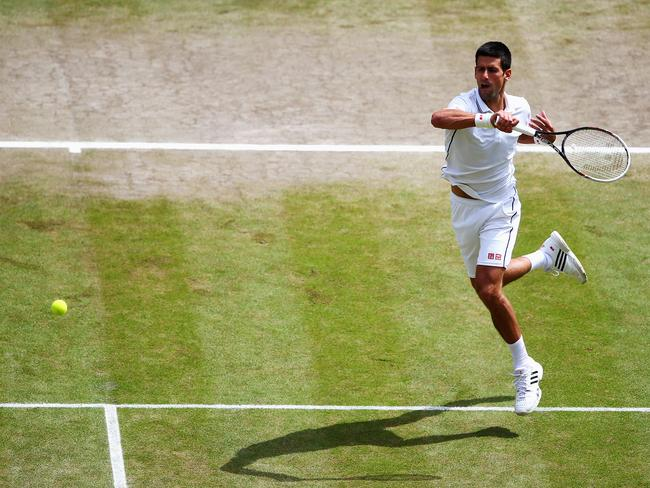 Novak Djokovic grabbed an early break in the second set.
