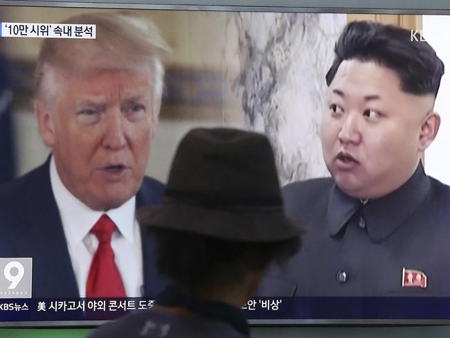 Donald Trump and Kim Jong-un continue to trade barbs. Picture: AP Photo/Ahn Young-joon