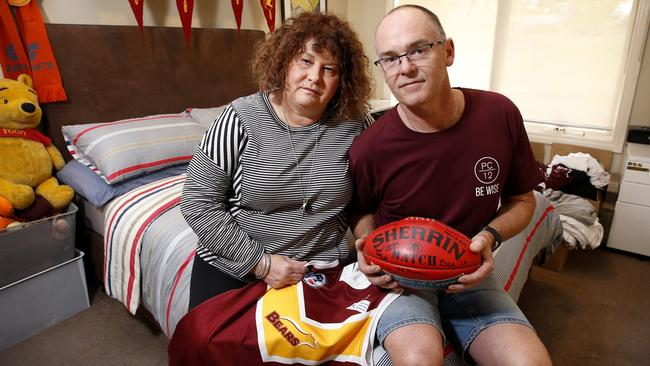 Patrick's devastated parents Robyn and Matt now run a foundation in his name. Picture: David Caird