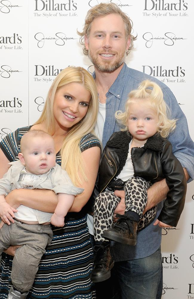 Jessica Simpson and Eric Johnson with their children Ace and Maxwell.