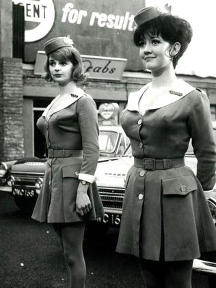 Amanda Barrie (right) in the 1963 film  <i>Carry On Cabby</i>. Picture: Supplied