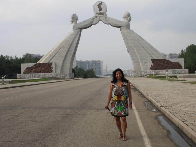 Ms Thomas says the fabulous architecture is strictly limited to sacred spots in the capital, Pyongyang.