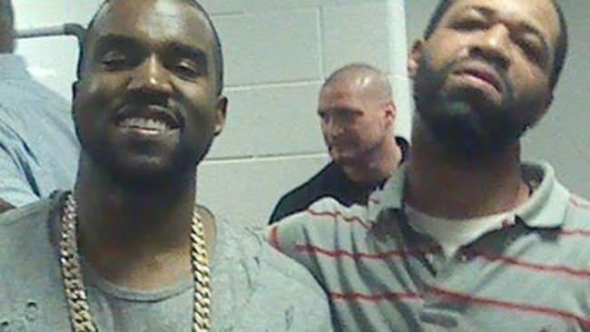 Kanye West and his one-time stepbrother Hal Carmichael.
