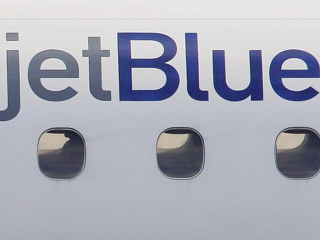 Another JetBlue plane bound for Barbados was forced into an emergency landing after three crew members also fell ill. Picture: Stephan Savoia/AP