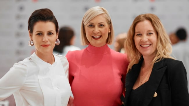 Sherrie Storor with guests at her women in real estate event. Photo: Supplied