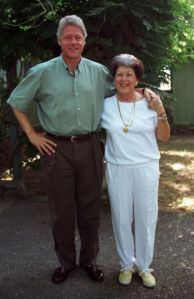 Bill Clinton with his mother: Photo credit: Barbara Kinney, William J. Clinton Presidential Library Facebook.