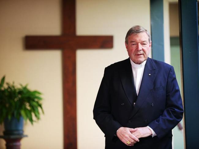 Cardinal George Pell pictured in Sydney.