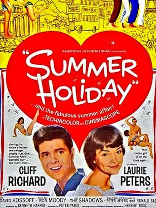 Hit movie ... Sir Cliff Richard starred in the 1963 musical film Summer Holiday.