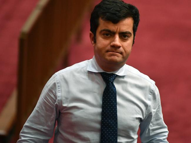 Labor Senator Sam Dastyari has been accused of trashing the opposition's foreign policy for a donation of $400,000. Picture: AAP Image/Mick Tsikas