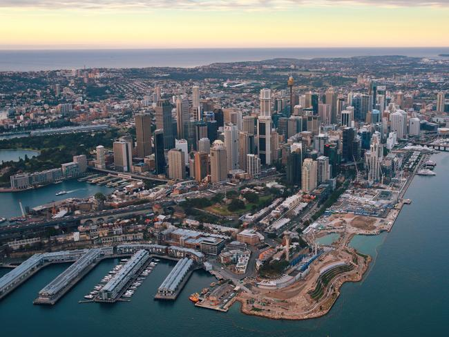 Sydney CBD, Harbour and Barangaroo at sunrise / Picture: Toby Zerna
