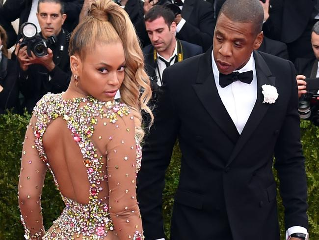 Beyoncé and Jay-Z arriving at the Metropolitan Museum of Art's Costume Institute Gala just prior to the time that rumours of infidelity began to emerge. Picture: AFP