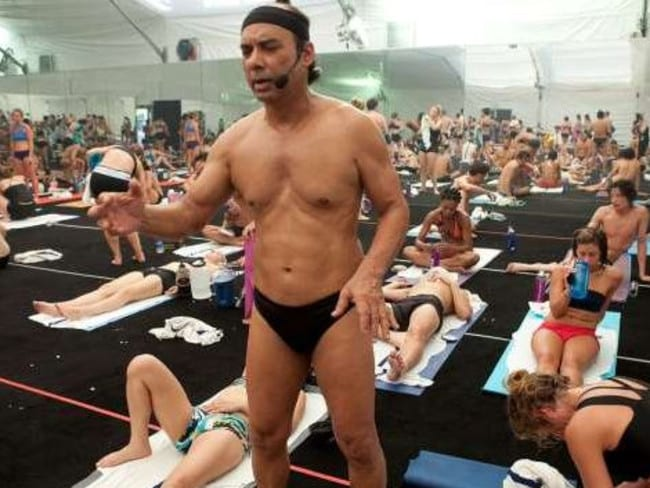 Teacher ... Yoga guru Bikram Choudhury has been practising yoga for years. Picture: Supplied