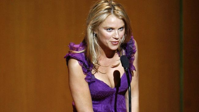 Hope for a speedy recovery ... Logan accepts her Woman of the Year award in 2007 in New York.