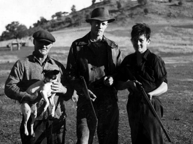 On the hunt ... armed residents of Cowra set out to hunt down Japanese POWs after the mass escape.