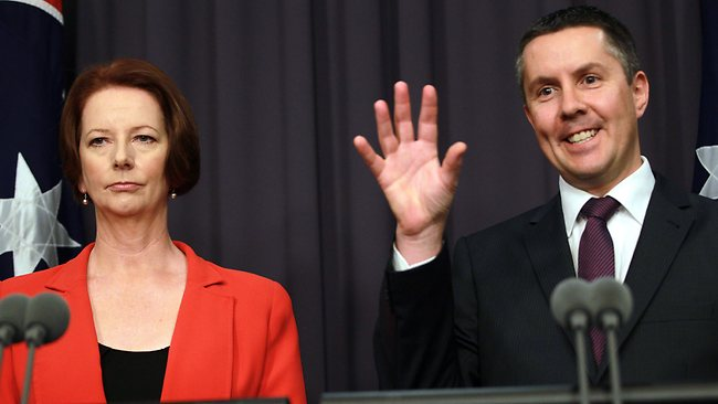 Minister Mark Butler with Prime Minister Julia Gillard. Picture: Gary Ramage