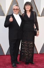 George Miller and Margaret Sixel attend the 88th Annual Academy Awards on February 28, 2016 in Hollywood, California. Picture: AP