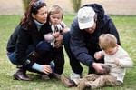 <p>Princess Mary with Prince Frederik and baby Isabella and Prince Christian look at a Tasmanian sugar glider at Zoodoo near Richmond today Pic. Kochanowski Raoul</p>